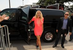 Britney Spears arrives at the taping of THE X FACTOR in Austin, Texas on Thurday, May 24