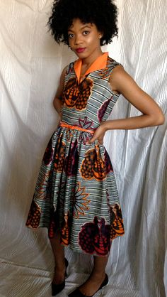 African Wax Print Dress by LadyChang on Etsy, $50.00