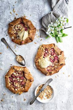 ... coconut cream and rhubarb cream halva galette ...
