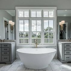 """3,780 Likes, 20 Comments - Grace R (@lovefordesigns) on Instagram: """"Master tub with a view.... . . Via @sailerdesign…"""""""