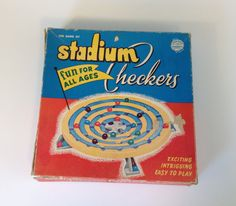 Stadium Checkers by Schaper Mfg. 1952