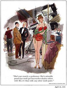 """Today's Inspiration: John Ruge: an """"unbridled enthusiasm for good drawing"""" Playboy Cartoons, Funny Cartoons, All About Eve, Parsons School Of Design, Illustration Girl, Pin Up Art, Adult Humor, Cool Drawings, Great Artists"""