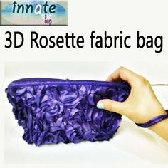 3D Rose Fabric bag by InnateArtisanSoap on Etsy