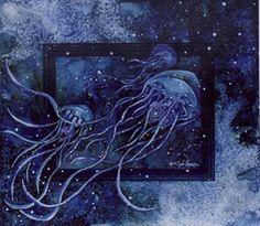 """The Travellers,"" Karla Morreira whalebonewatercolors.com"