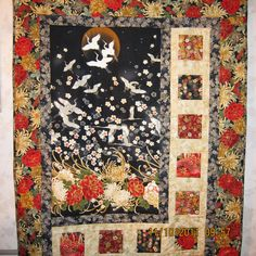 Asian Themed Wall Hanging/Throw Size Quilt by JLSQuilting on Etsy, $85.00