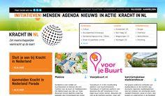 KRACHT IN NL - mooi platform dat mooie voorbeelden van burgerinitiatieven op de kaart zet. Doe-het-samen-maatschappij, verbindende schakel voor maatschappelijke initiatieven, sociale innovatie, ecosyteem voor burgerschap 3.0.