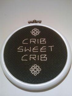 Crib Sweet Crib by Jamie Chalmers aka Mr X Stitch