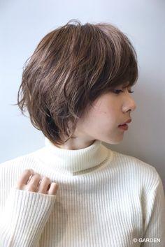 Pin on 髪型 Short Hair Cuts For Women, Short Cuts, Short Hair Styles, Pixie Haircut, Hair Inspo, Dyed Hair, Your Hair, Hair Makeup, Bob