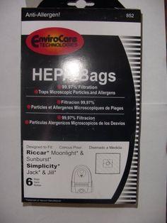 Riccar Moonlight & Sunburst Canister HEPA Vacuum Cleaner Bags