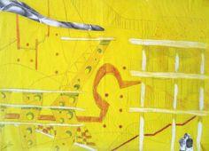 """Cherubino Gambardella, """"Senza titolo"""", 2000 Tecnica mista su carta da spolvero, 50x70 cm Copyright: Cherubino Gambardella Courtesy: Collezione Francesco Moschini e Gabriel Vaduva A.A.M. Architettura Arte Moderna #sketch"""