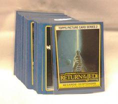 1983 Topps Star Wars Return of the Jedi Series 2 Vintage Card Set of 88 - ROTJ