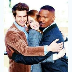 The Amazing Spider-Man 2: Emma Stone, Andrew Garfield, and Jamie Foxx