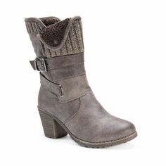 Slip into these fashionable Hedy boots by Muk Luks. These mid-calf boots allow…