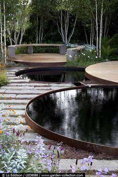 Pond Design, Small Garden Design, Landscape Architecture, Landscape Design, Outdoor Living, Outdoor Decor, Urban Design, Water Features, Fountain