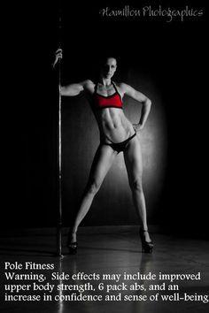 WARNING: Pole Dancing can cause _________. (You fill in the blank)  Pole Picture of the Day: Submitted by Brigitte Boyes. Photography by: Hamilton Photographics. #BKPPOD #BadKittyPride #VFrontTop  Submit your photos here: www.badkitty.com/submit