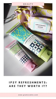 NEW Refreshments service from Ipsy: Are these products any good? Here's my verdict so far! #ipsy #refreshments #ipsyglambag #skincare #beauty #nontoxic #cleanbeauty Clean Beauty, Beauty Skin, Body Of Evidence, Glowy Skin, Acne Skin, Beauty Review, Subscription Boxes, Hand Cream, Body Lotion