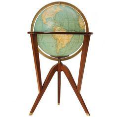 Illuminated Globe By Edward Wormley c1950's for Dunbar