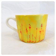Cute mug, unique mug, autumn colours, autumn coffee mug, coffee mug, hand painted mug, handmade mug
