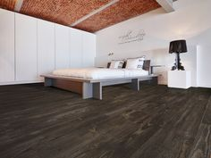 Vinyl Vloeren Outlet : Vinyl vloer met houtlook donker bruin eiken viligno dark brown