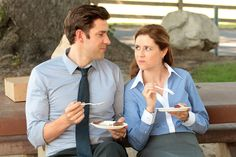 One of my favorite TV couples ever!!! Jim + Pam 4 ever!!! <3  (The Office-NBC)