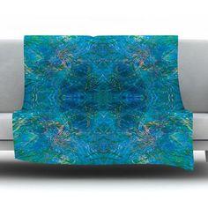 "KESS InHouse Clearwater by Nikposium Fleece Throw Blanket Size: 60'' H x 50'' W x 1"" D"