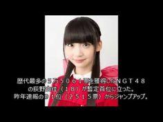 NGT48荻野由佳「第9回AKB総選挙速報」暫定1位に,指原莉乃3位予想外の結果に衝撃