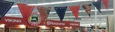 All in the hoop pennant flags designed in 6D Premier Software - Design Creator and stitched out on a beautiful Husqvarna Viking Machine