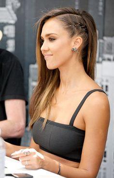 Jessica Alba esittelee tämän hetken trendikkäimmän kampauksen: faux undercut | Faux undercut is the trendiest hairdo atm