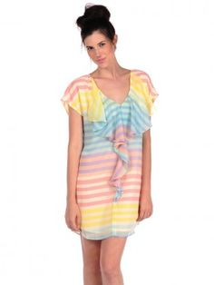 ROMEO & JULIET Pastel Flutter Dress $64.99 SHIPPED FREE~~ALSO FREE LOCAL DELIVERY NOW AVAILABLE WITHIN 10 MILES OF SANTA MONICA, CALIFORNIA