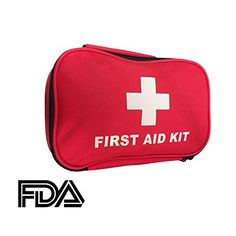 First Aid Kit 120 Items Packed into a Compact Case for Emergencies and General First Aid at Home Work Camping Hiking Traveling Car Pets School Sports and Many Other Situations *** For more information, visit image link. (This is an affiliate link) #CarEmergencyKit