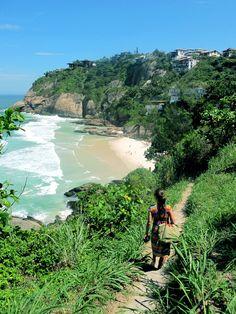 Praia de Joatinga, no Rio de Janeiro, Brasil.