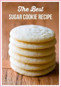 Easy Sugar Cookie Recipe No Baking Soda.Sugar Cookies Recipe From Scratch No Baking Powder . Easy Sugar Cookies Recipe {Soft And Chewy} CakeWhiz. Home and Family Chewy Sugar Cookies, Sugar Cookies Recipe, Cookies Et Biscuits, Simple Sugar Cookie Recipe, Drop Sugar Cookies, Vanilla Cookies, Homemade Sugar Cookies, Sugar Cookie Recipe No Baking Soda, Sugar Cookie Dough
