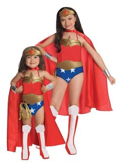 Rubies DC Super Heroes Collection Deluxe Wonder Woman Halloween Costume Medium size - Top halloween costume for your kid with express delivery. This is a great costume. Toddler Costumes, Girl Costumes, Costumes For Women, Children Costumes, Costume Ideas, Funny Costumes, Wonder Woman Halloween Costume, Halloween Fancy Dress, Halloween Costumes