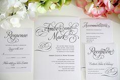 Wedding Invitations  Charming Script Deposit por shineinvitations, $100.00