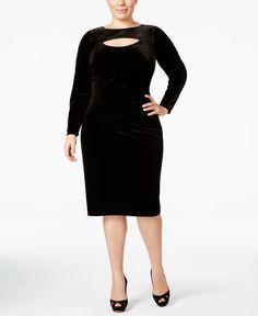 7b322a9158d Inc International Concepts Plus Size Velvet Sheath Dress