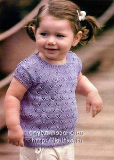 Blouse / HandWork Art Crochet Girls, Crochet For Kids, Knit Crochet, Knitting For Kids, Baby Knitting, Knitting Patterns, Crochet Patterns, Baby Pullover, Summer Patterns
