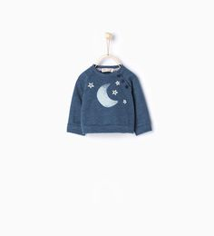 Sweatshirt with moon and stars embroidery-Collection-Mini (0-12 months)-KIDS | ZARA United States