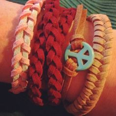 Handmade stacking bracelets and wraps