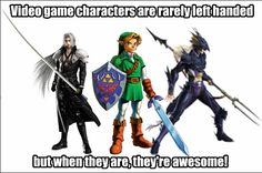 Left handed characters are awesome! #Gaming
