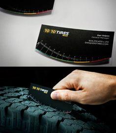 Un biglietto da visita per misurare il consumo delle gomme e valutare se chiamare il gommista