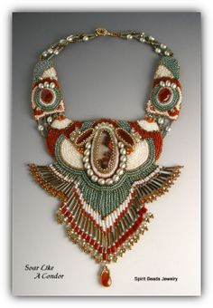 Unique handmade jewelry - artistic bead embroidery - original ...