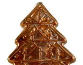 Vintage Copper Christmas Tree Large Cookie Mold SOLD