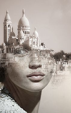 Blends Humans With Nature In Beautifully-Surreal Portrait Series La Cariátide by Antonio Mora.°La Cariátide by Antonio Mora. Portraits En Double Exposition, Exposition Multiple, Exposition Photo, Surreal Photos, Surreal Art, Surreal Portraits, Fantasy Portraits, Photomontage, Creative Photography