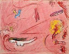 Study to ''Song of Songs I'' - (Marc Chagall)