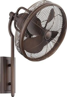 Wall mounted indooroutdoor fan nickel finish bronze finish and quorum international 92413 veranda 4 blade wall mount patio fan oiled bronze fans wall mount fans aloadofball Image collections