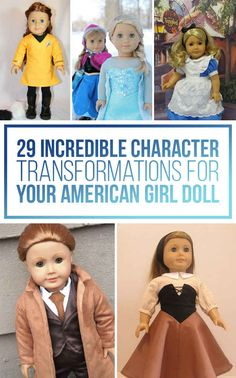 29 Incredible Character Transformations For Your American Girl Doll   Buzzfeed AWESOME!!!!!