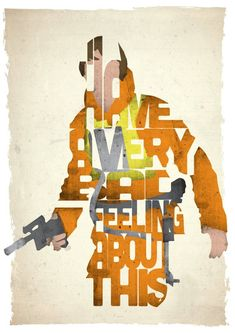 Affiche typographique citation de film Star Wars Luke Skywalker
