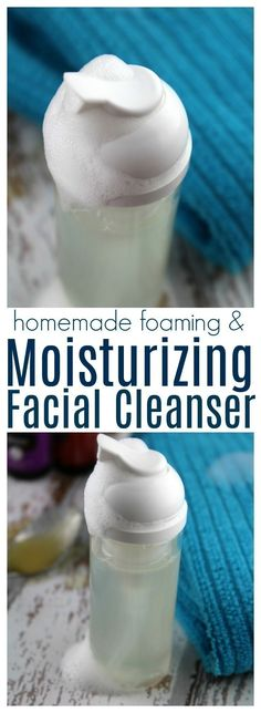 With just 3 ingredients + distilled water, you can make your own moisturizing facial cleanser.