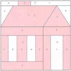 School house paper piecing block