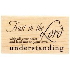 Trust with All Your Heart Rubber Stamp *** Find out more about the great product at the image link.